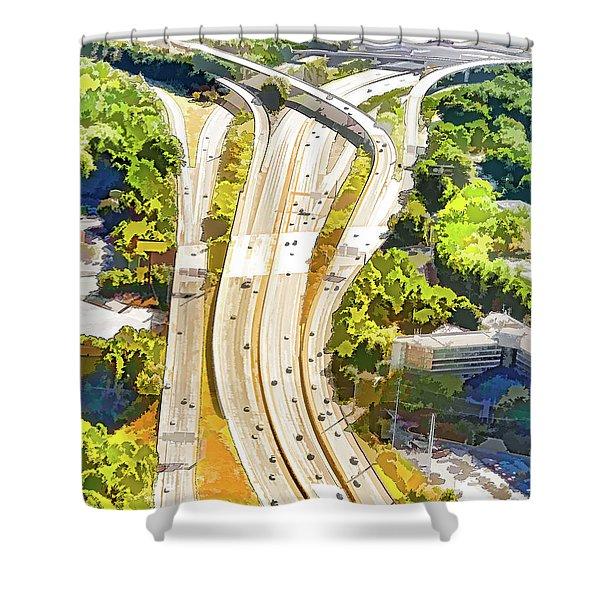 Atlanta Highways Shower Curtain