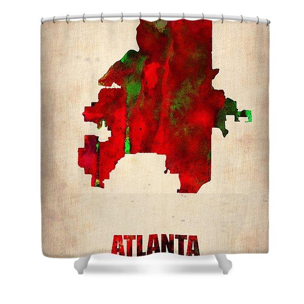 Atlanta Watercolor Map Shower Curtain