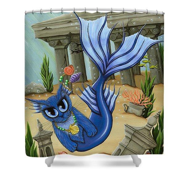 Atlantean Mercat Shower Curtain