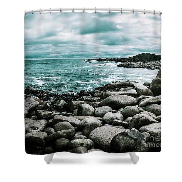 Atmosphere In A Looming Sea Storm Shower Curtain