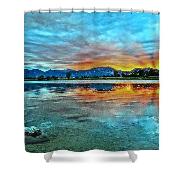 Atom  Shower Curtain