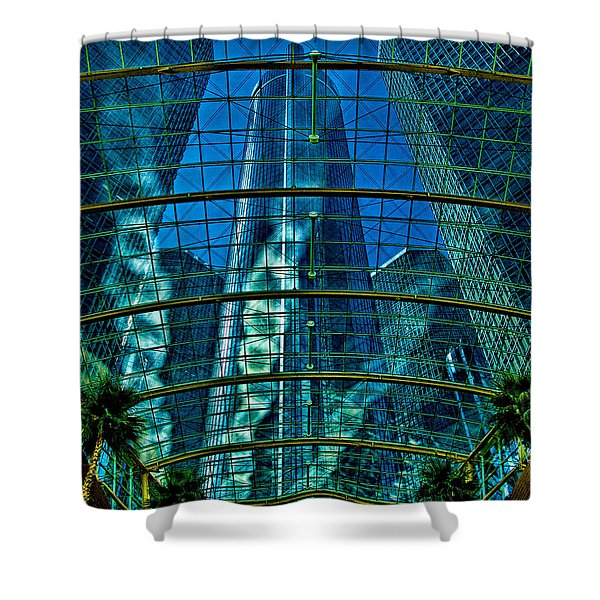 Atrium Gm Building Detroit Shower Curtain
