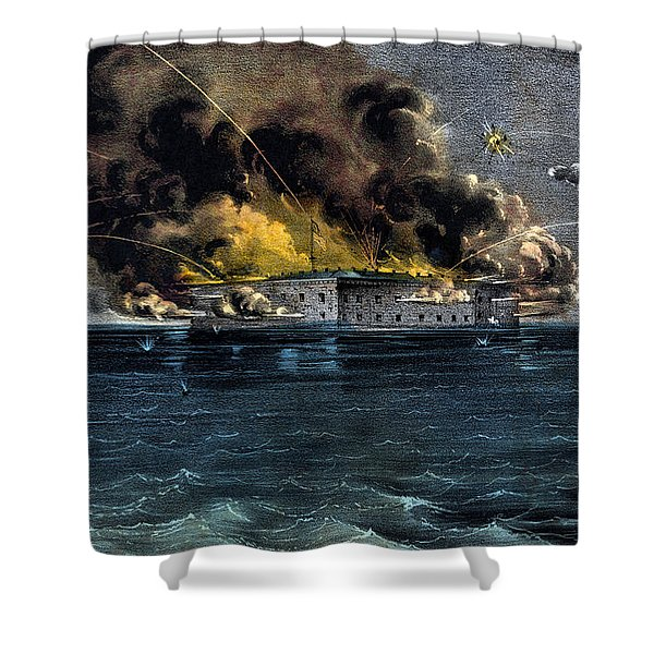 Attack On Fort Sumter Shower Curtain