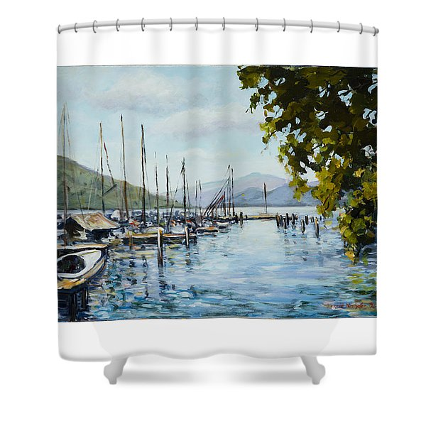 Attersee Austria Shower Curtain