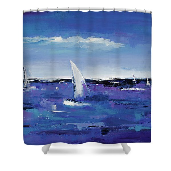 Au Gre Du Vent Shower Curtain