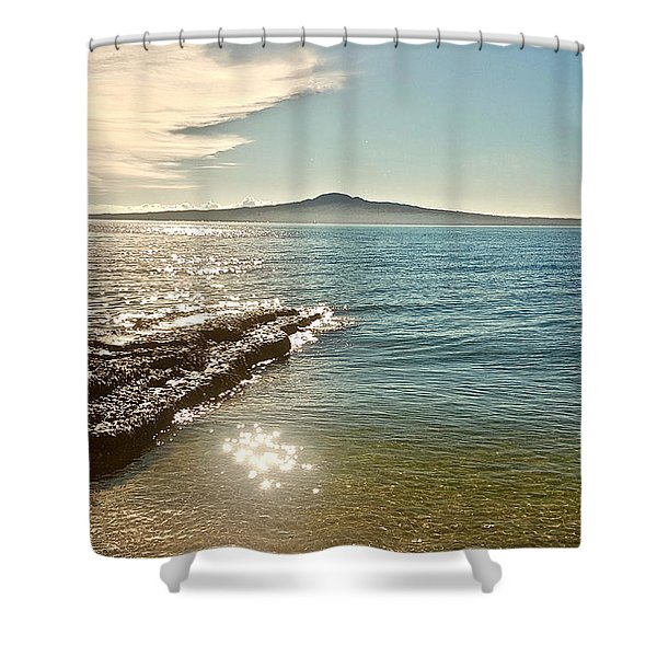 Auckland Harbour On A Winter's Afternoon Shower Curtain