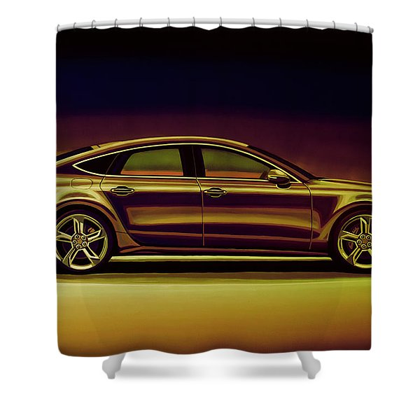 Audi Rs7 2013 Mixed Media Shower Curtain