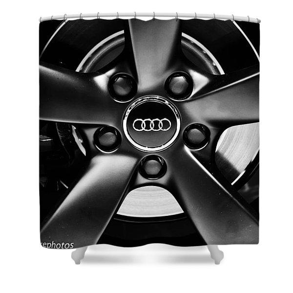 Audi Wheel  Monochrome Shower Curtain
