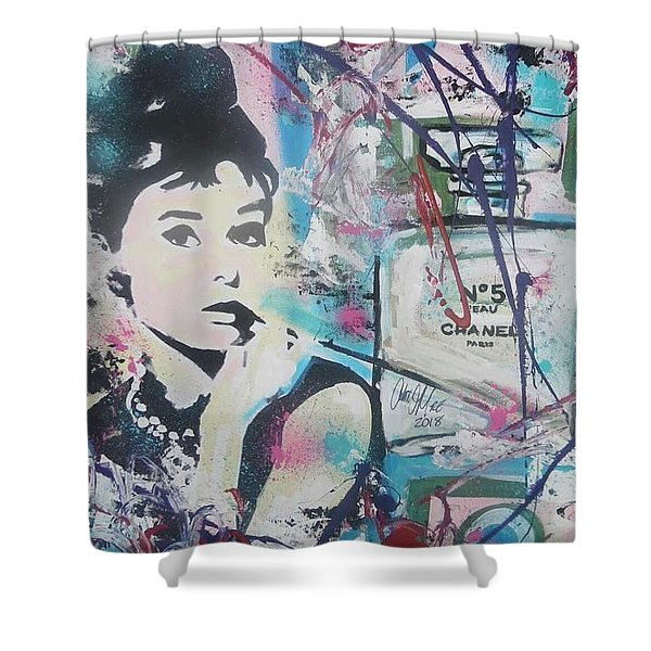 Audrey Chanel Shower Curtain