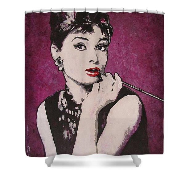 Audrey Hepburn - Breakfast Shower Curtain