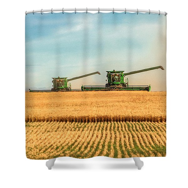Augers Out Shower Curtain