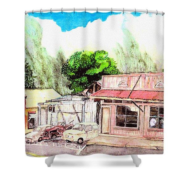 Auggies Pool Hall Shower Curtain