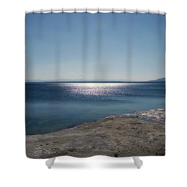 August High Noon Yellowstone Lake 01 Shower Curtain