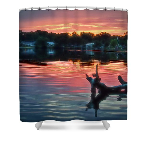 August Sunset Glow Shower Curtain