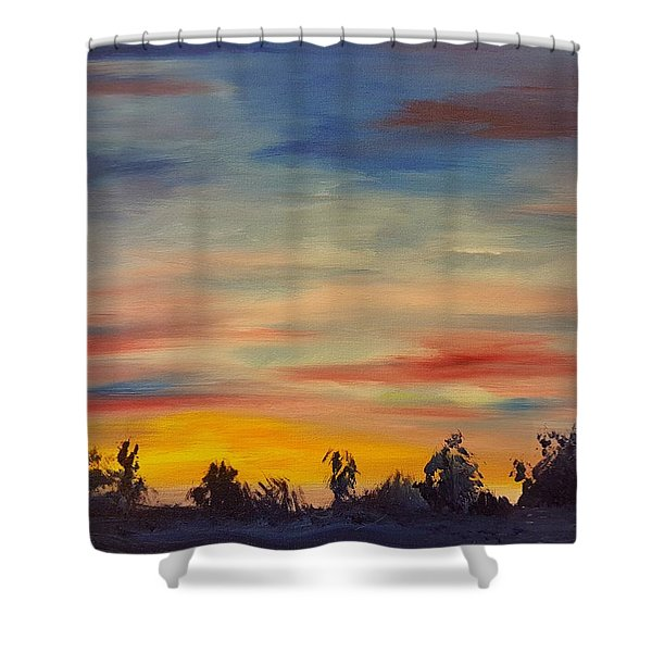 August Sunset In Sw Montana Shower Curtain