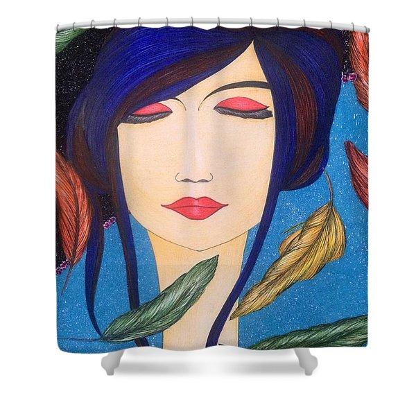 Aura Of Peace. Shower Curtain