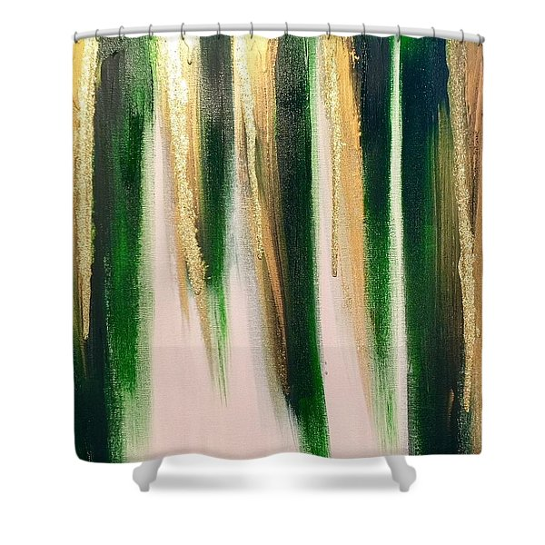 Aurelian Emerald Shower Curtain