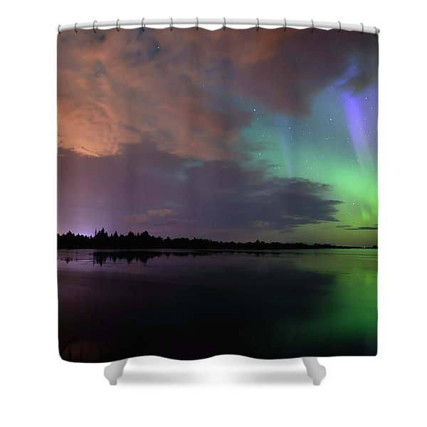 Aurora And Storm Clouds Shower Curtain