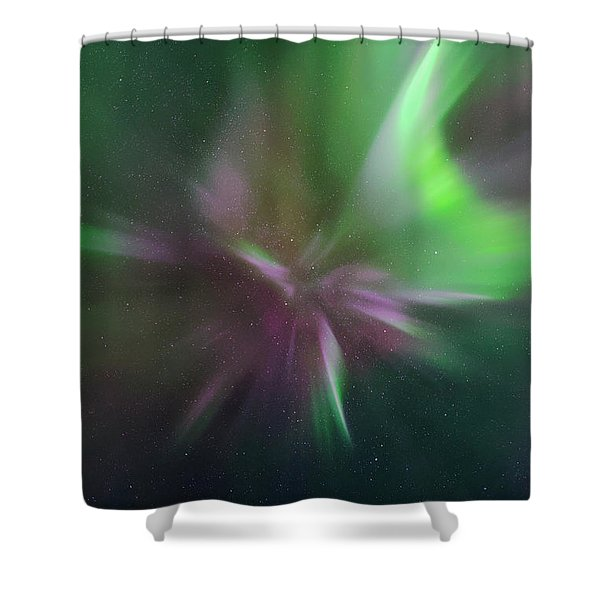 Aurora Borealis Corona Shower Curtain