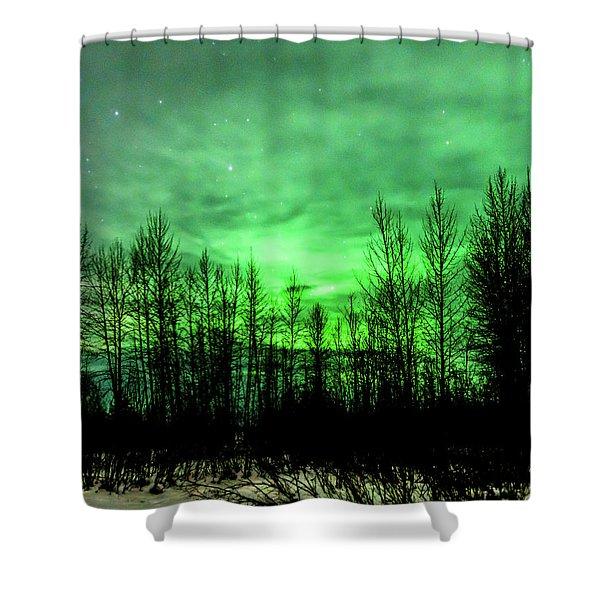 Aurora In The Clouds Shower Curtain
