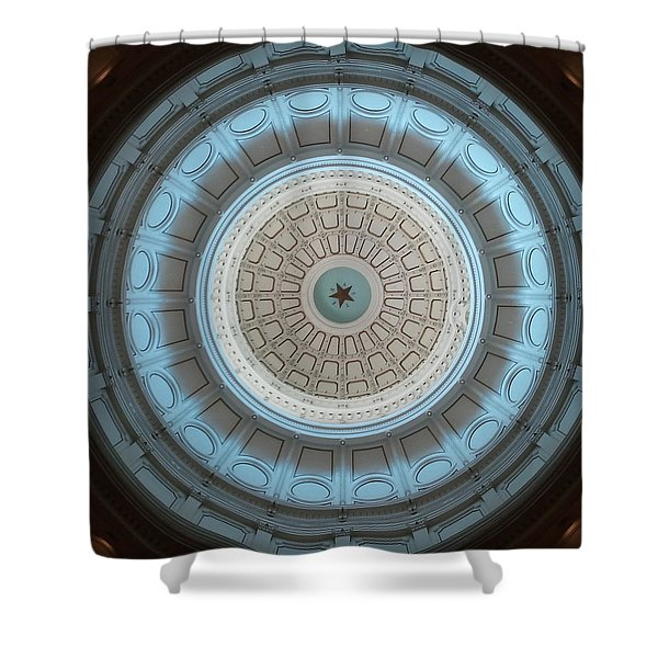 Austin Capitol Dome In Gray And Blue Shower Curtain