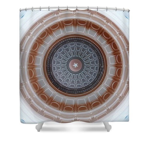 Austin Capitol Dome In Gray And Brown Shower Curtain
