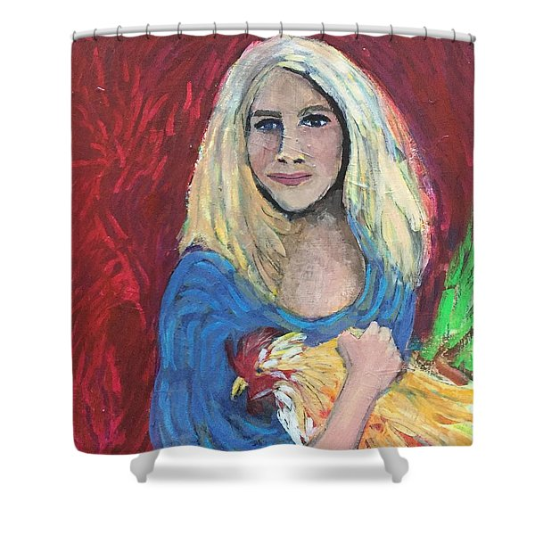 Austin Girl Shower Curtain