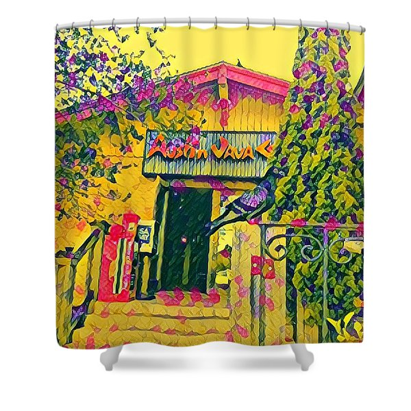 Austin Java Electric Shower Curtain