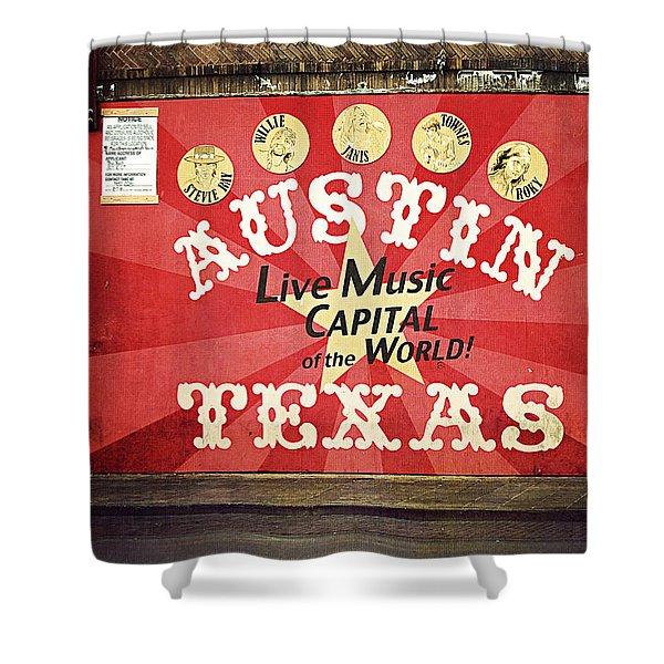 Austin Live Music Shower Curtain