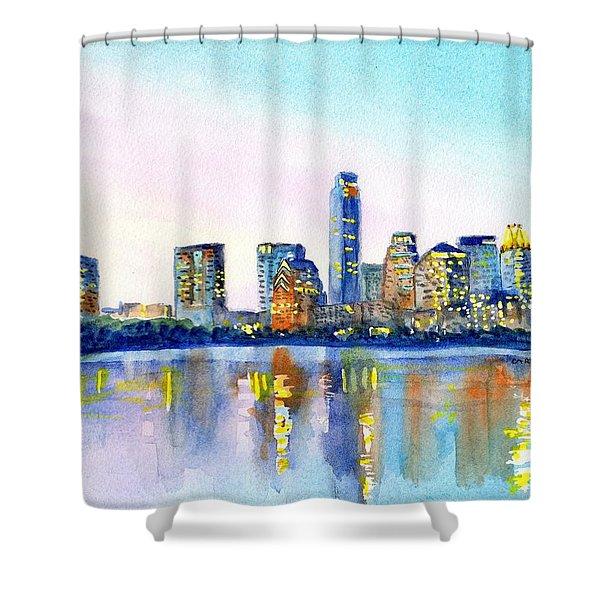 Austin Texas Skyline Shower Curtain
