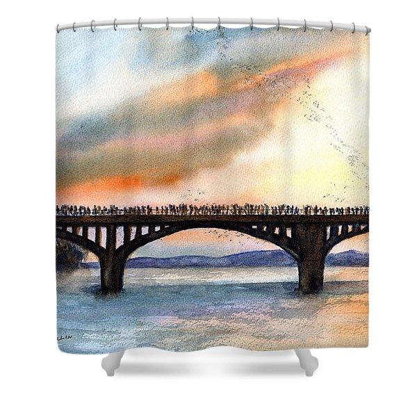 Austin, Tx Congress Bridge Bats Shower Curtain