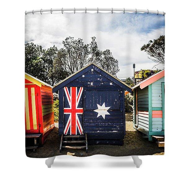 Australia Bathing Boxes Shower Curtain