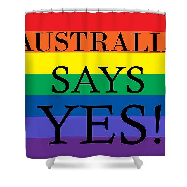 Australia Says Yes Shower Curtain
