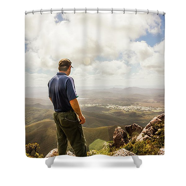 Australian Explorer Sightseeing Mt Zeehan Shower Curtain
