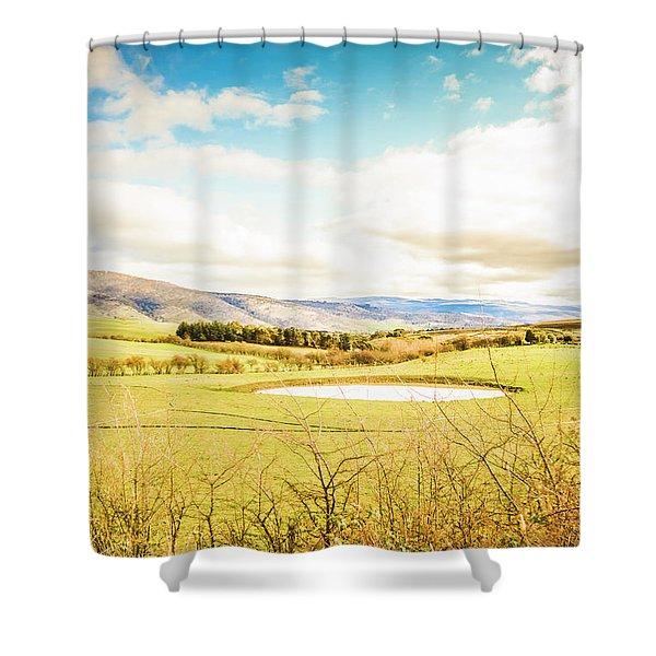 Australian Open Spaces  Shower Curtain