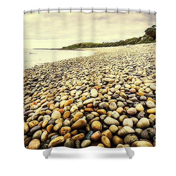 Australian Rocky Shoreline Shower Curtain