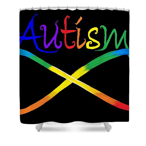 Autism Infinity Spectrum Shower Curtain