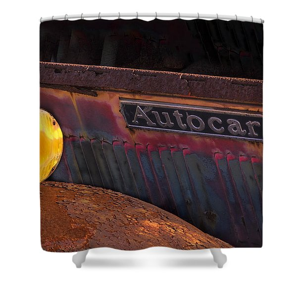 Shower Curtain featuring the photograph Autocar Trucks by Tom Singleton