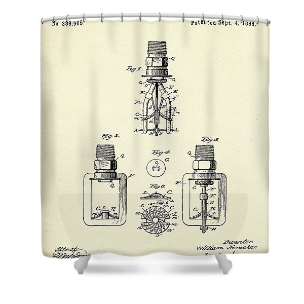 Automatic Fire Sprinkler-1888 Shower Curtain