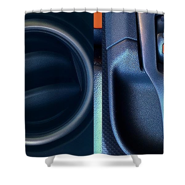 Automobile Abstracts Shower Curtain