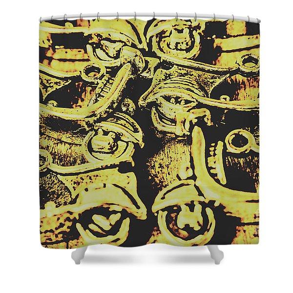 Automotive Pop Art Shower Curtain