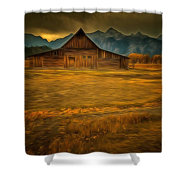Autum At The Moulton Barn Shower Curtain