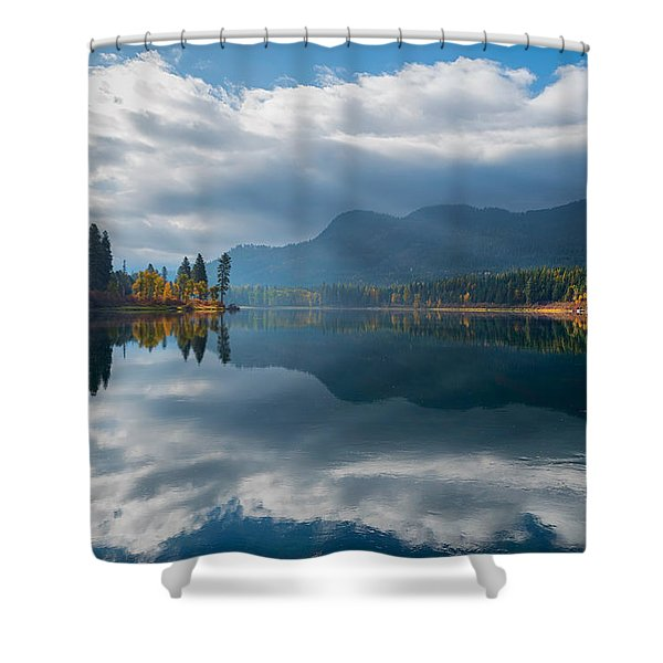 Autumn Along The Pend Oreille River Shower Curtain