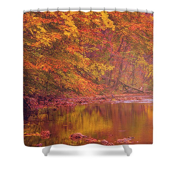 Autumn And The Creek Shower Curtain