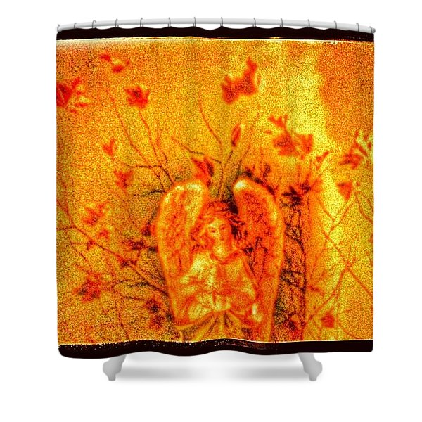 Autumn Angel Shower Curtain