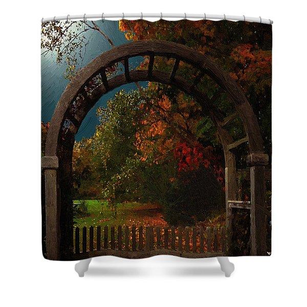 Autumn Archway Shower Curtain