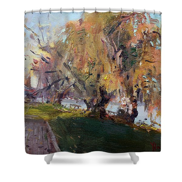 Autumn At Chautauqua Lake  Shower Curtain