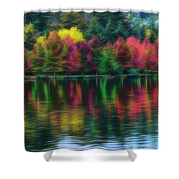Autumn At Green Lake Seattle Shower Curtain