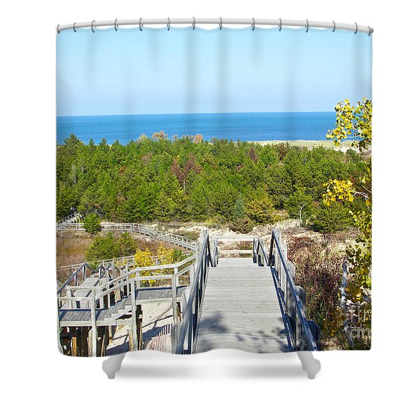 Autumn At The Dunes Shower Curtain