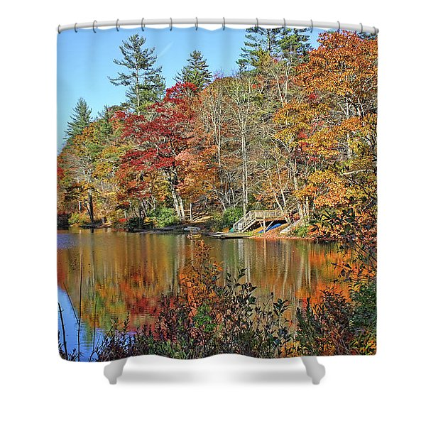 Autumn At The Lake 2 Shower Curtain
